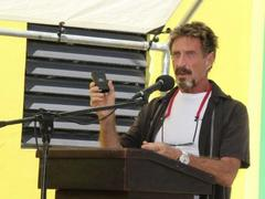 this story proves john mcafee was the king of working smarter, not harder