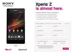 t-mobile sony xperia z sign up page now live