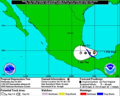 Tropical Storm Berry Forms off Mexican Gulf Coast
