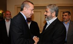 Turkey PM Erdogan welcomes Hamas leaders